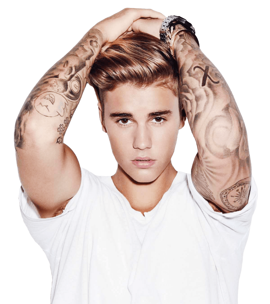 Confused Justin Bieber transparent PNG.
