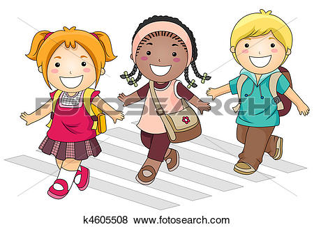 clipart of kids going to school #4
