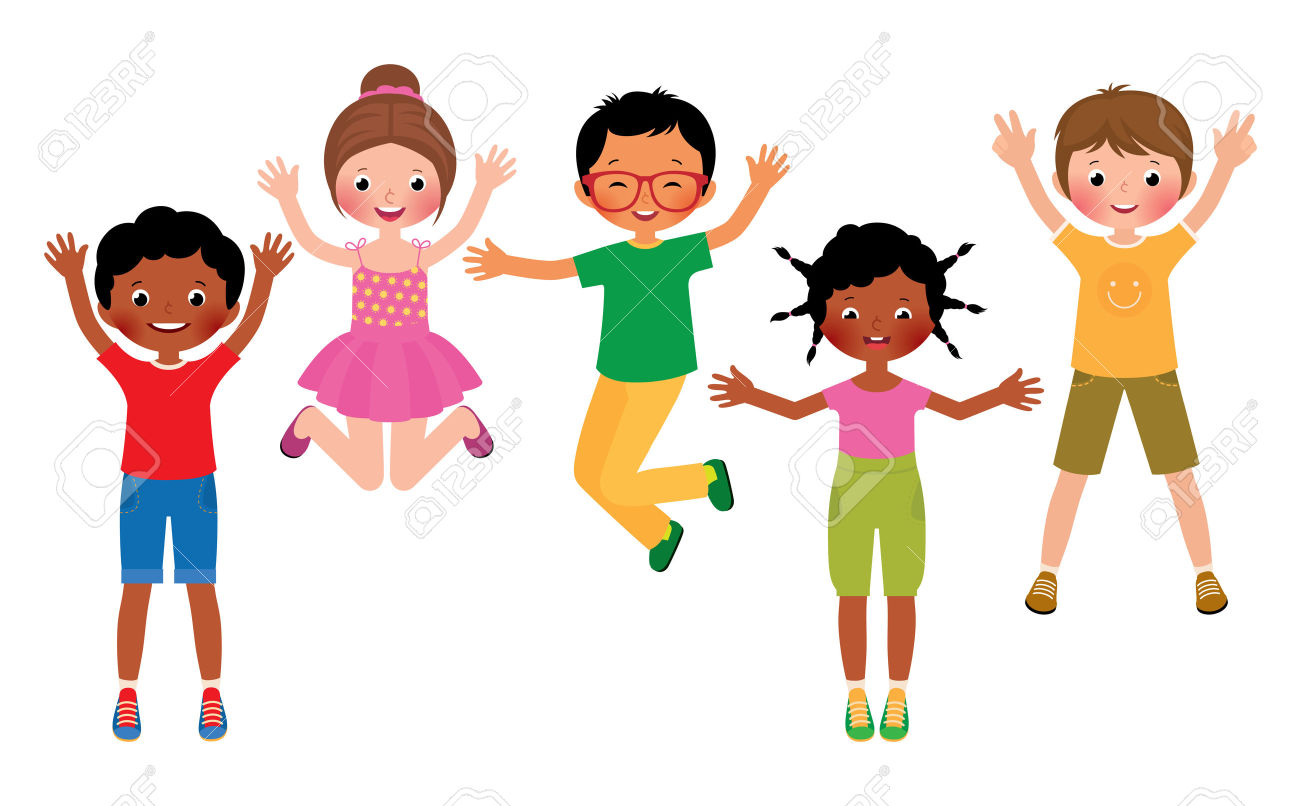 Excited Kids Clipart.