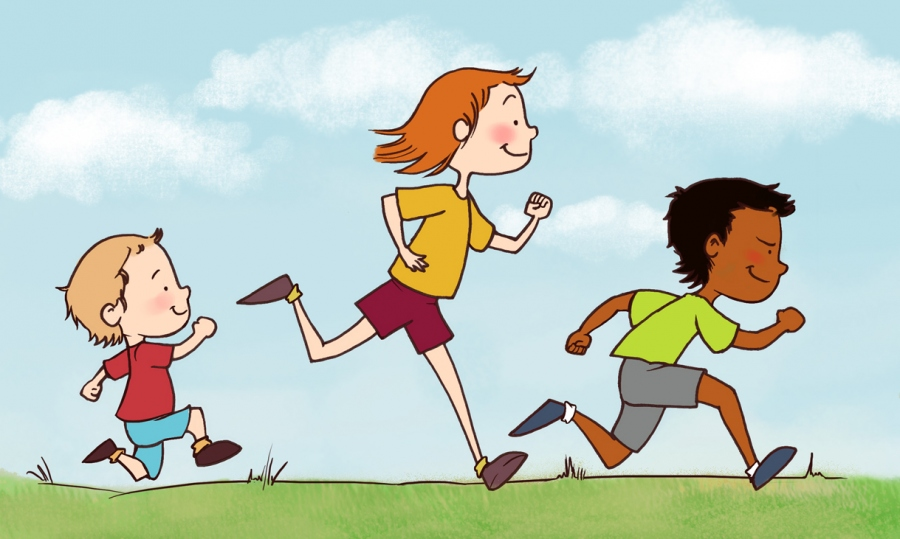Clipart Kids Running.