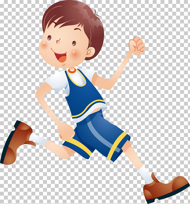 Child Cartoon , Running kids, boy running illustration PNG.