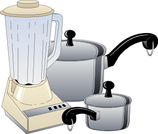 Household kitchen clipart.