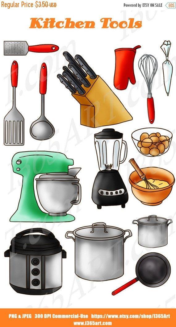 Kitchen Clipart, Kitchen Clip art, Baking clipart, Baking.