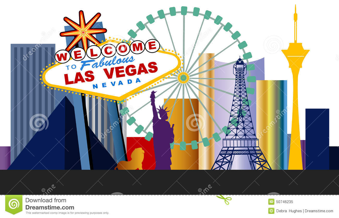 Las Vegas Strip Clipart.