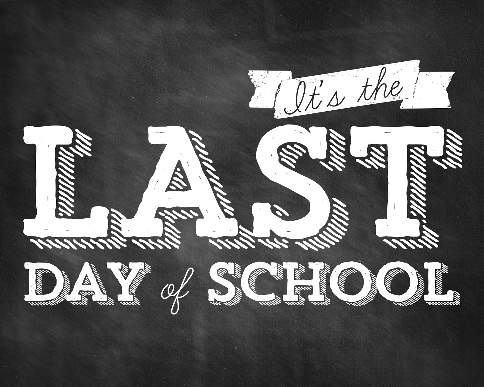 Last Day Of School Clipart Black And White.