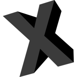 Letter X Icon.