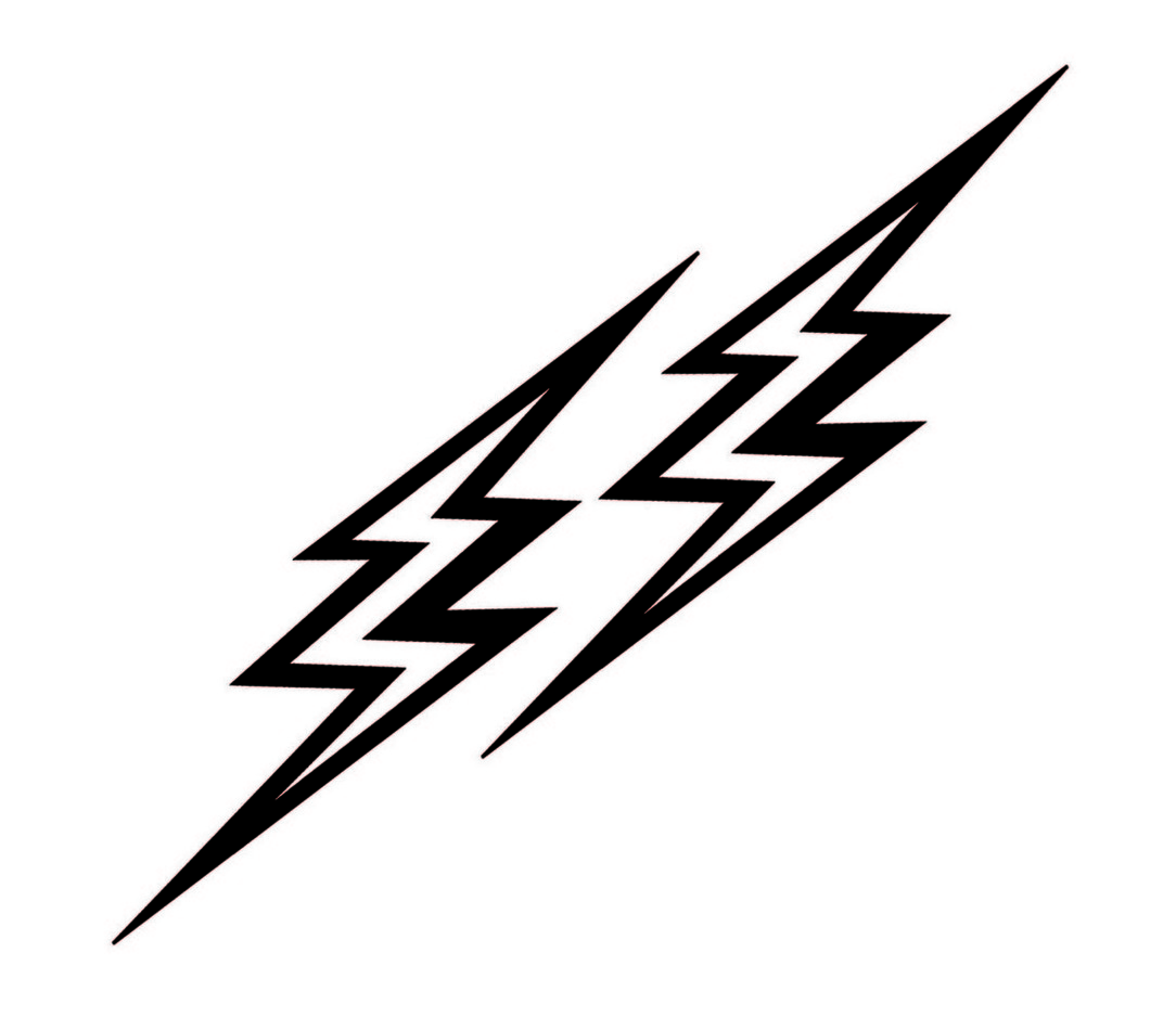 Black Lightning Bolt Clipart
