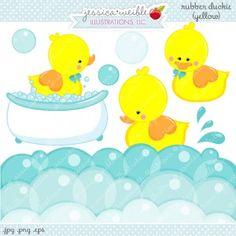 Clip art Duck bath, cute duck bath toy, PNG File , Instant.
