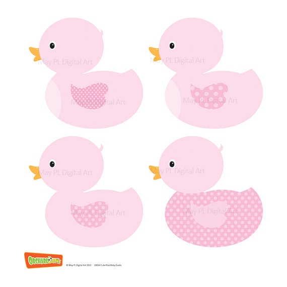 Ducks Clip Art Ducklings Baby Nursery Ducks DIY Baby Shower.