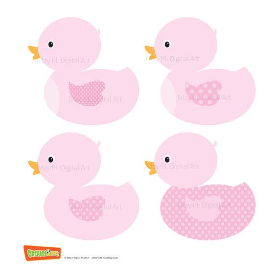 Ducks Clip Art Ducklings Baby Nursery Ducks DIY Baby Shower.