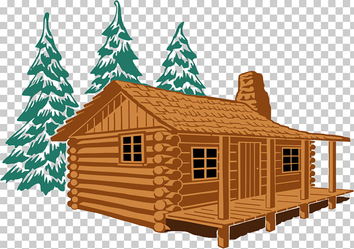 Log cabin , Summer Home s PNG clipart.