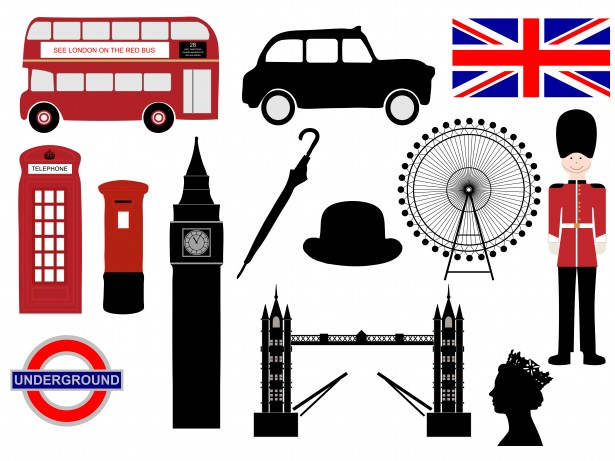 London Icons Clipart Free Stock Photo.