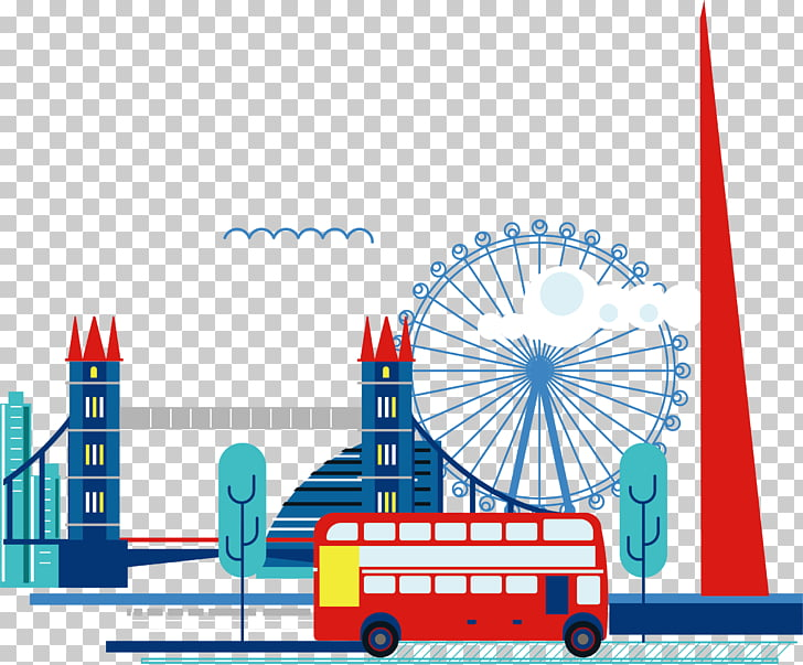 The Shard Skyline City of London , Ferris wheel element PNG.
