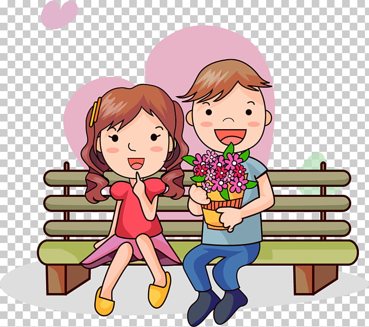 Engagement Love , cartoon lovers PNG clipart.