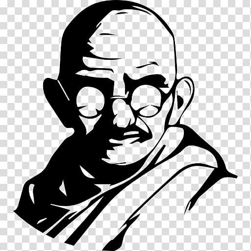 Mahatma Gandhi illustration, India Gandhi Jayanti October 2.