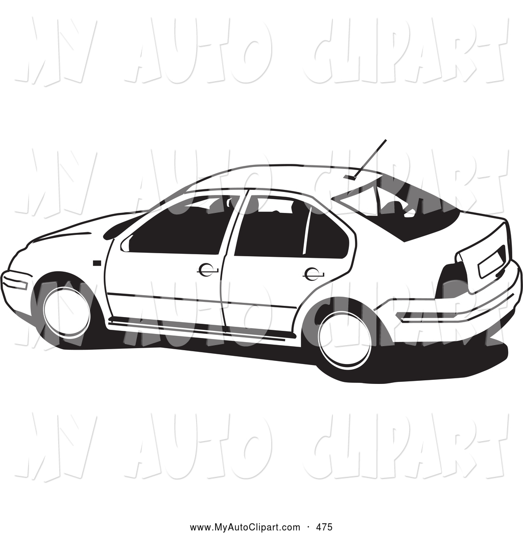 Black And White Clipart Malibu Car.