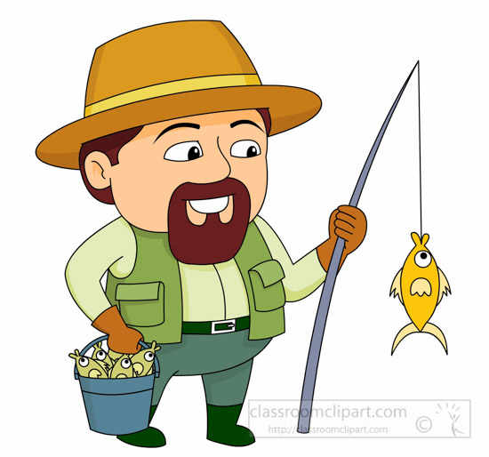 Clipart Of Man Fishing.