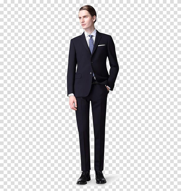 Man wearing black suit dress, Suit Sport coat Fashion Clothing Shirt.
