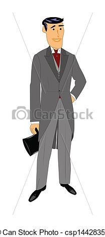Man With Tux Clipart.