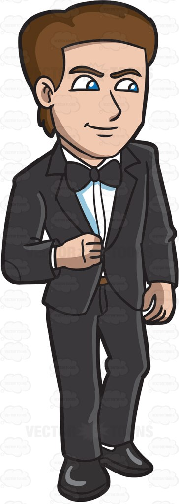 A Handsome Man In A Tuxedo.