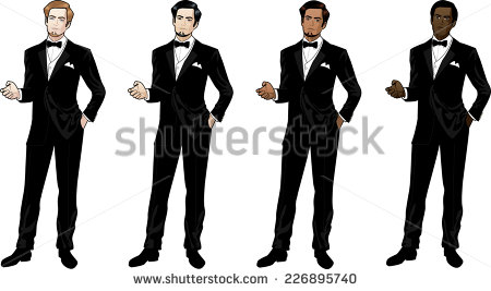 Clipart Of Man In Tux.