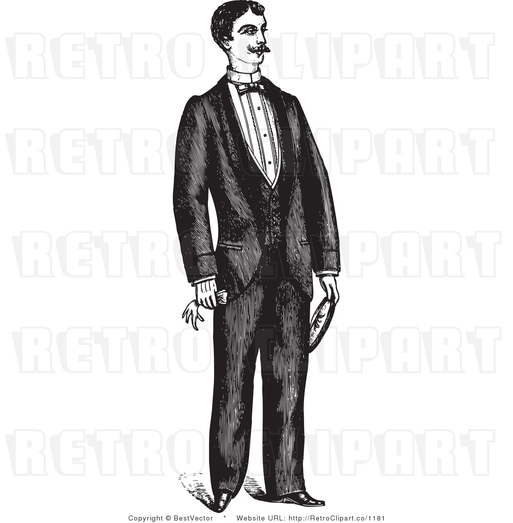 Man In A Tux Clipart.