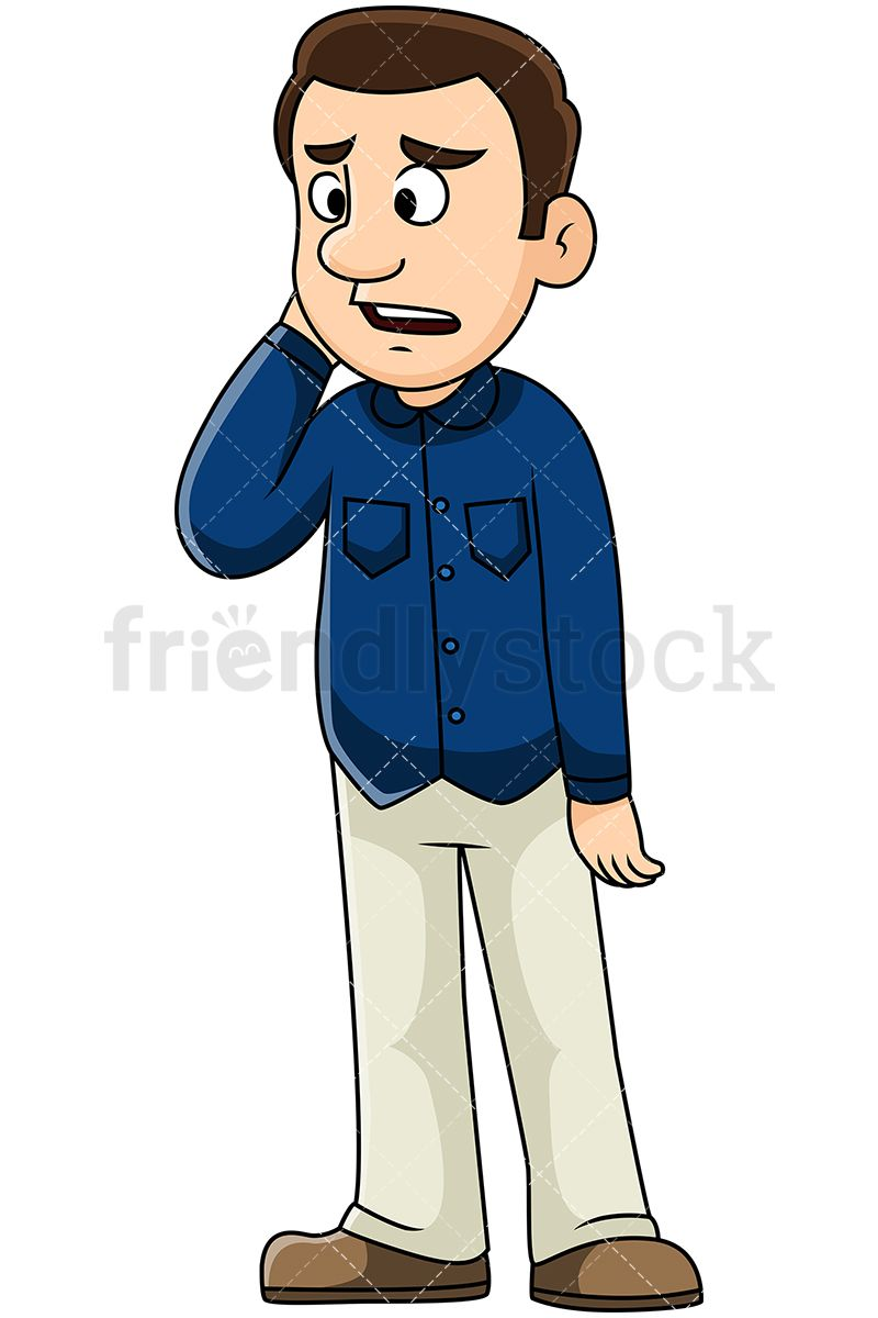 Man Standing Dressed Casually Clipart & Free Clip Art Images #28038.