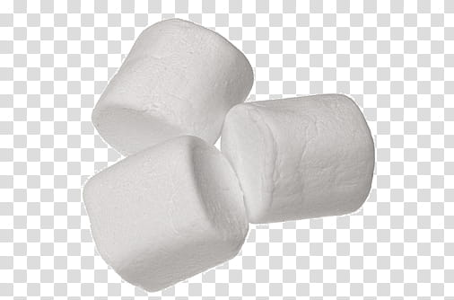 Sweet S, three marshmallows transparent background PNG.