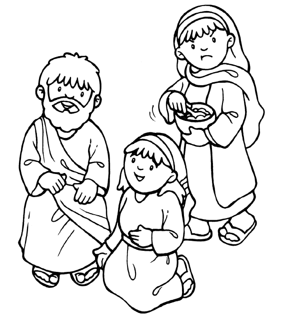 Clipart Of Mary And Martha With Jesus