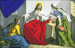 Jesus Christ With Mary And Martha Clip Art Download.
