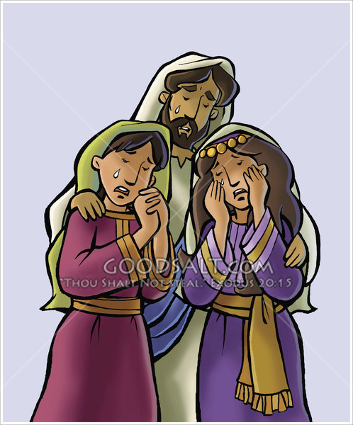 Jesus Weeps With Mary and Martha.