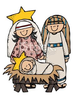 Library of melonheadz mary joseph jesus clipart black and.