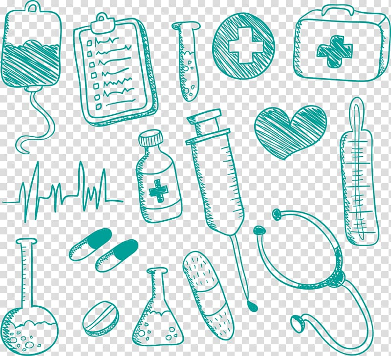 Hospital supply illustration, Medicine Nursing Drawing.