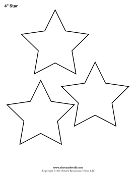 Printable Star Templates.