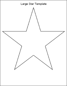 Printable Star Template and many others from bingo cards to weekly.
