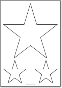 5 Pointed star shape.