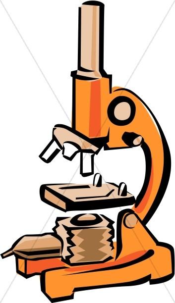 Biology Microscope Clip Art.