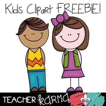 Kids and Students Clipart FREEBIE Clipart! Perfect for TpT sellers.
