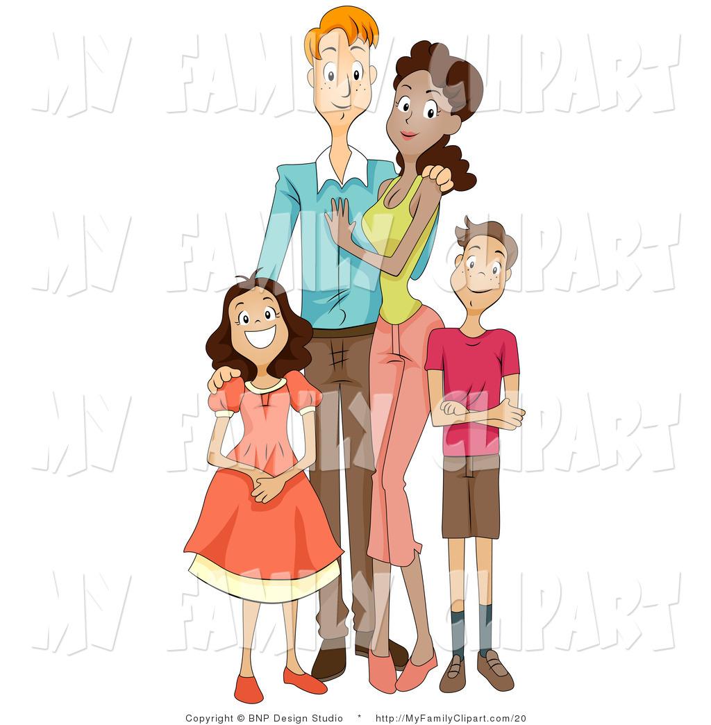 Mixed family clipart.