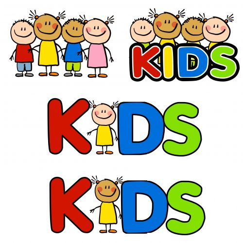 Cute Mixed Group Of Kids In The Classroom Clipart.