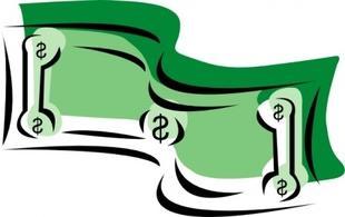 Clip art money bills.