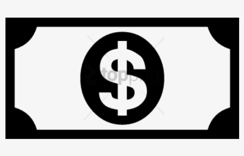 Free Money Bills Black And White Clip Art with No Background.