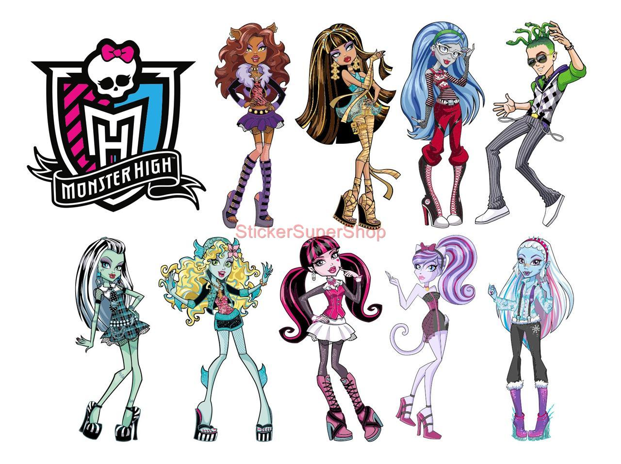 Monster High Letters Clipart.