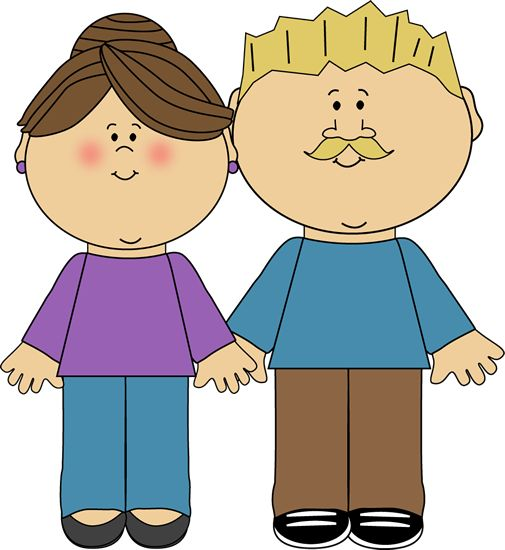 Father And Mother Only Clipart.