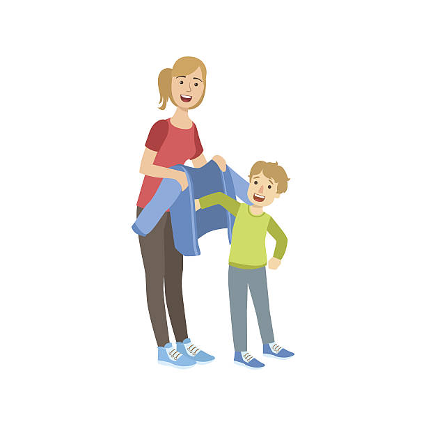 Mother And Son Clipart.