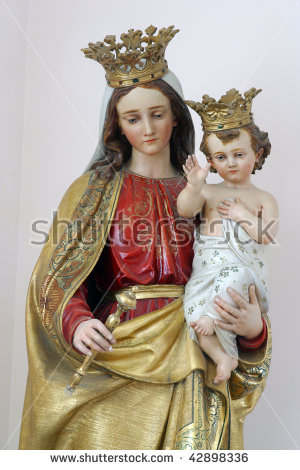 Mother Mary With Child Jesus Stock Images, Royalty.