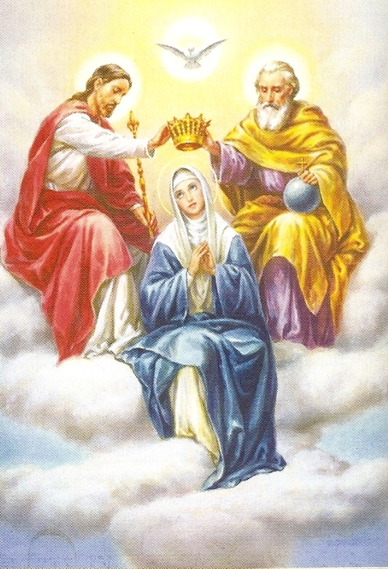 Clipart Of Mother Mary With Crown.
