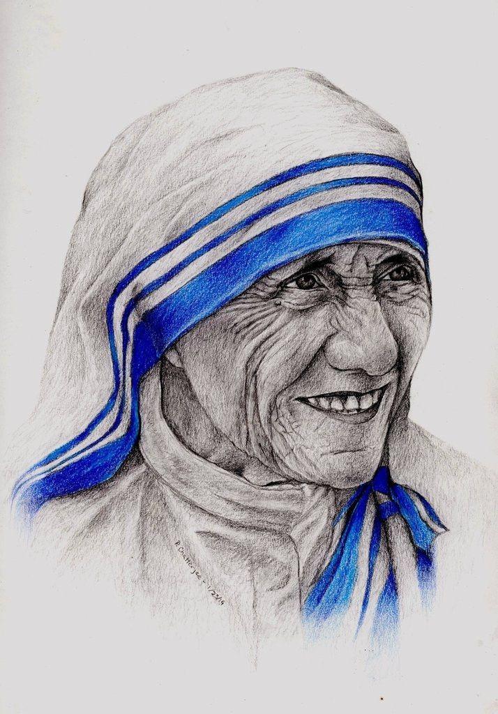 Portrait of Mother Teresa in 2019.
