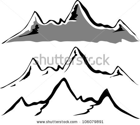 Mountains Silhouette Clip Art.
