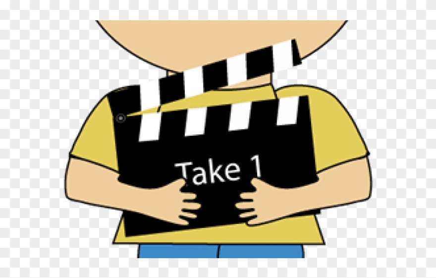 Clapperboard Clipart Movie Theater.